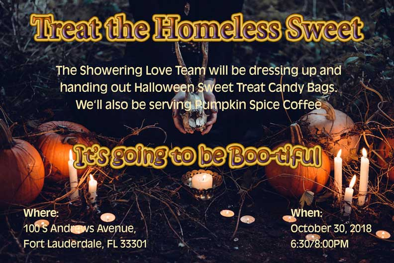 Spooky Halloween - Treat the Homeless Sweet
